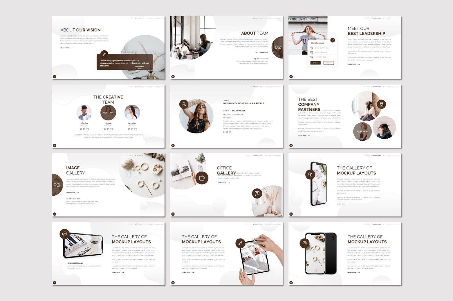 Clevernes - Powerpoint Template, Slide 3, 07761, Presentation Templates — PoweredTemplate.com