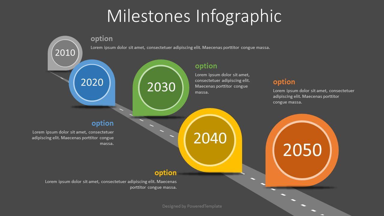 Milestones Concept Infographics, Slide 2, 07762, Timelines & Calendars — PoweredTemplate.com