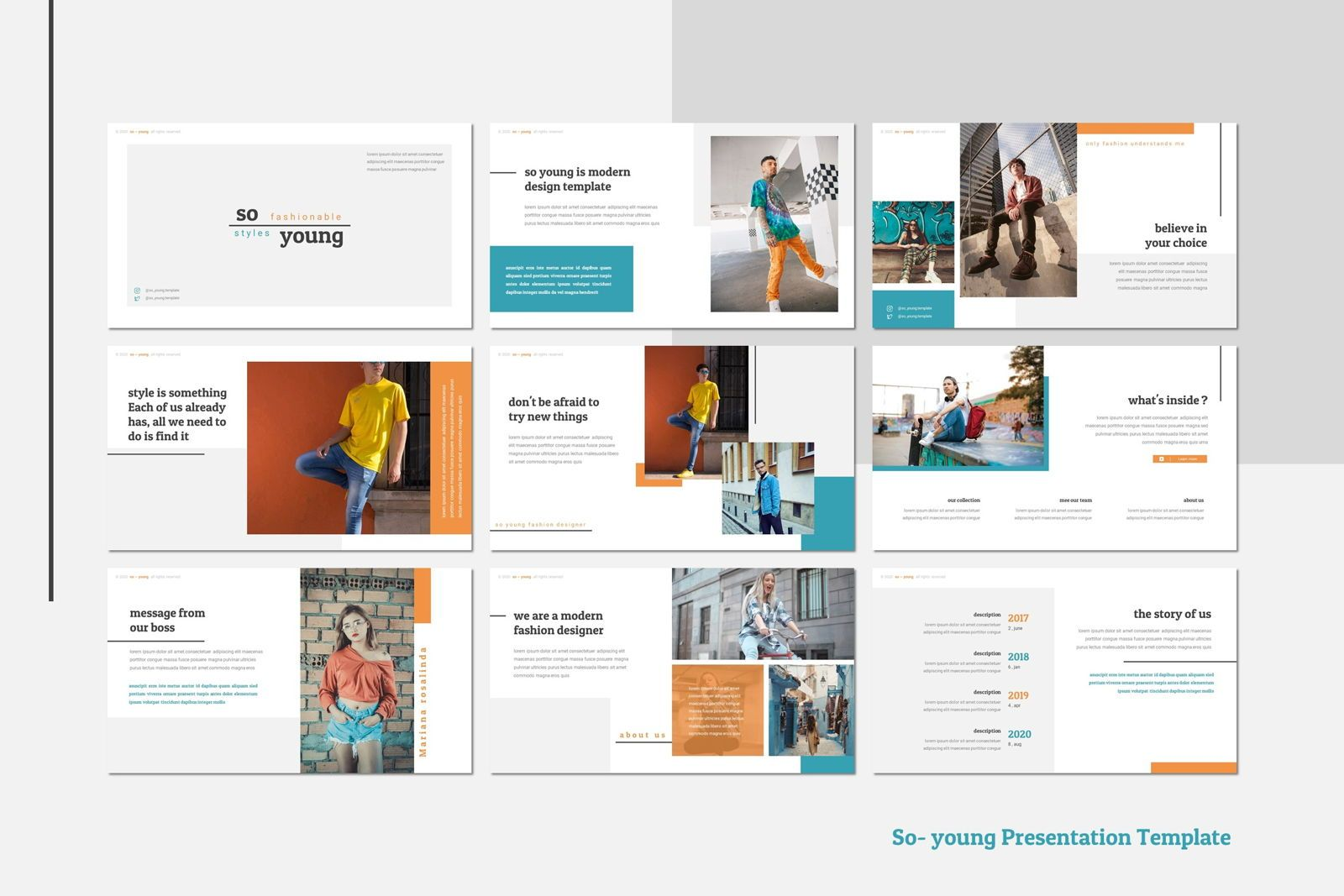 So Young - Google Slides Template, 幻灯片 2, 07765, 演示模板 — PoweredTemplate.com