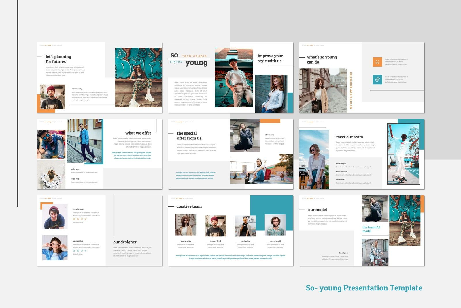 So Young - Google Slides Template, 幻灯片 3, 07765, 演示模板 — PoweredTemplate.com