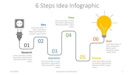 Shapes: 6 Steps Idea Development Infographic #07766
