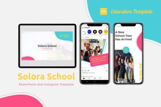 Presentation Templates: Solora School - Google Slides Template #07767