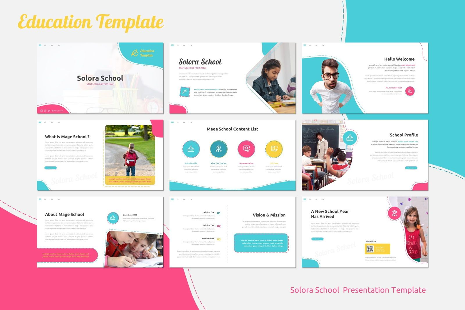 Solora School - Google Slides Template, Slide 2, 07767, Presentation Templates — PoweredTemplate.com