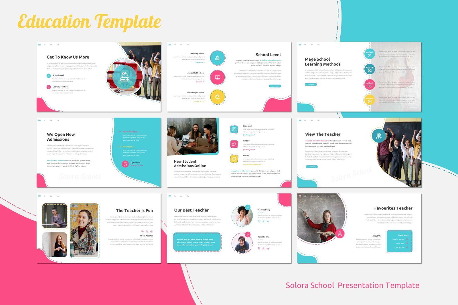 Solora School - Google Slides Template, Slide 3, 07767, Presentation Templates — PoweredTemplate.com
