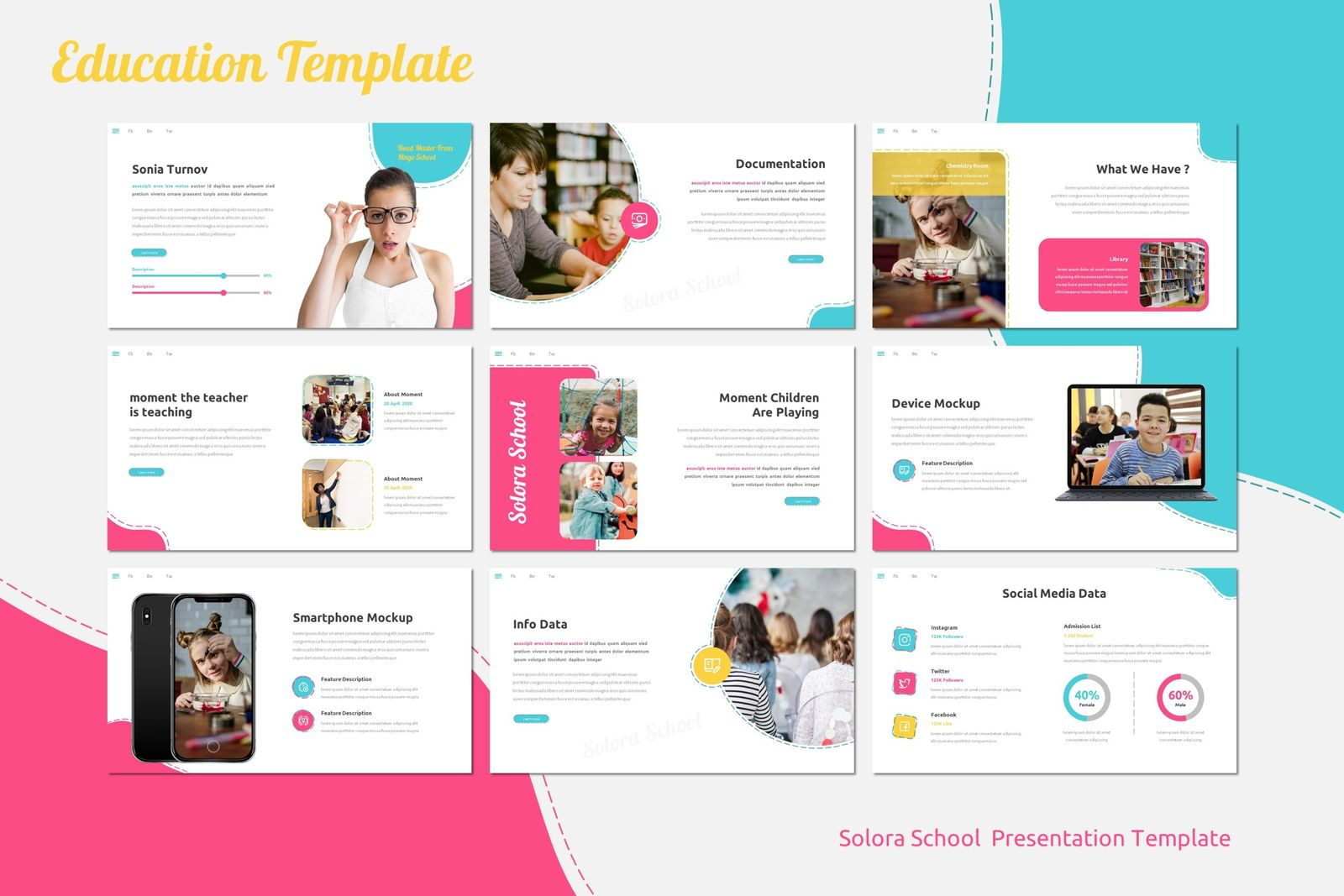 Solora School - Google Slides Template, Slide 4, 07767, Presentation Templates — PoweredTemplate.com