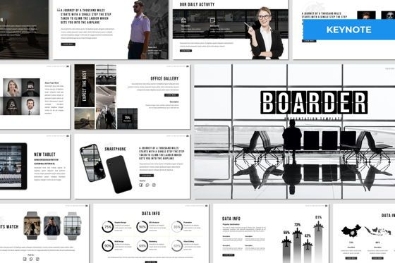 Presentation Templates: Boarder - Keynote Template #07768