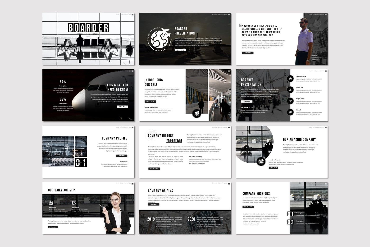 Boarder - Keynote Template, Slide 2, 07768, Presentation Templates — PoweredTemplate.com