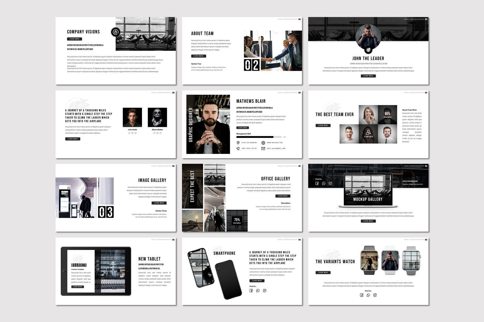 Boarder - Keynote Template, Slide 3, 07768, Presentation Templates — PoweredTemplate.com