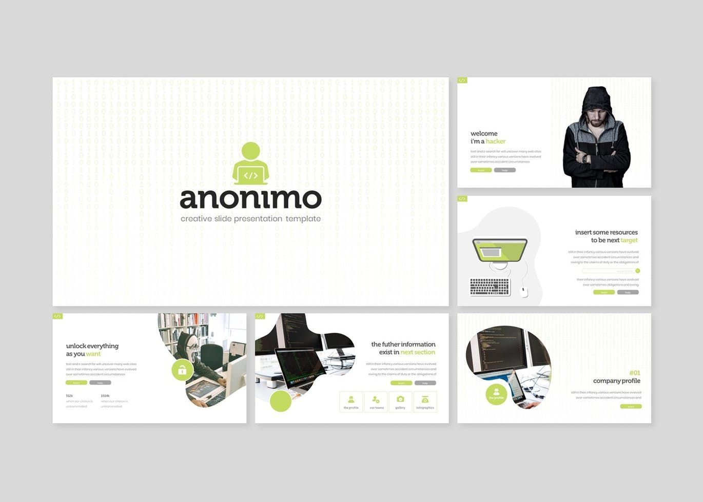 Anonimo - PowerPoint Template, Slide 2, 07769, Presentation Templates — PoweredTemplate.com