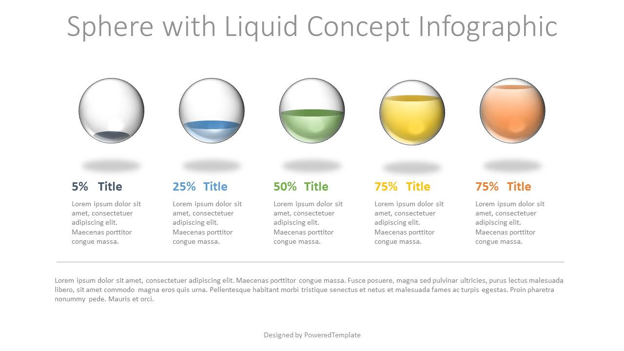 Sphere with Liquid Concept Infographic, Slide 2, 07771, Stage Diagrams — PoweredTemplate.com