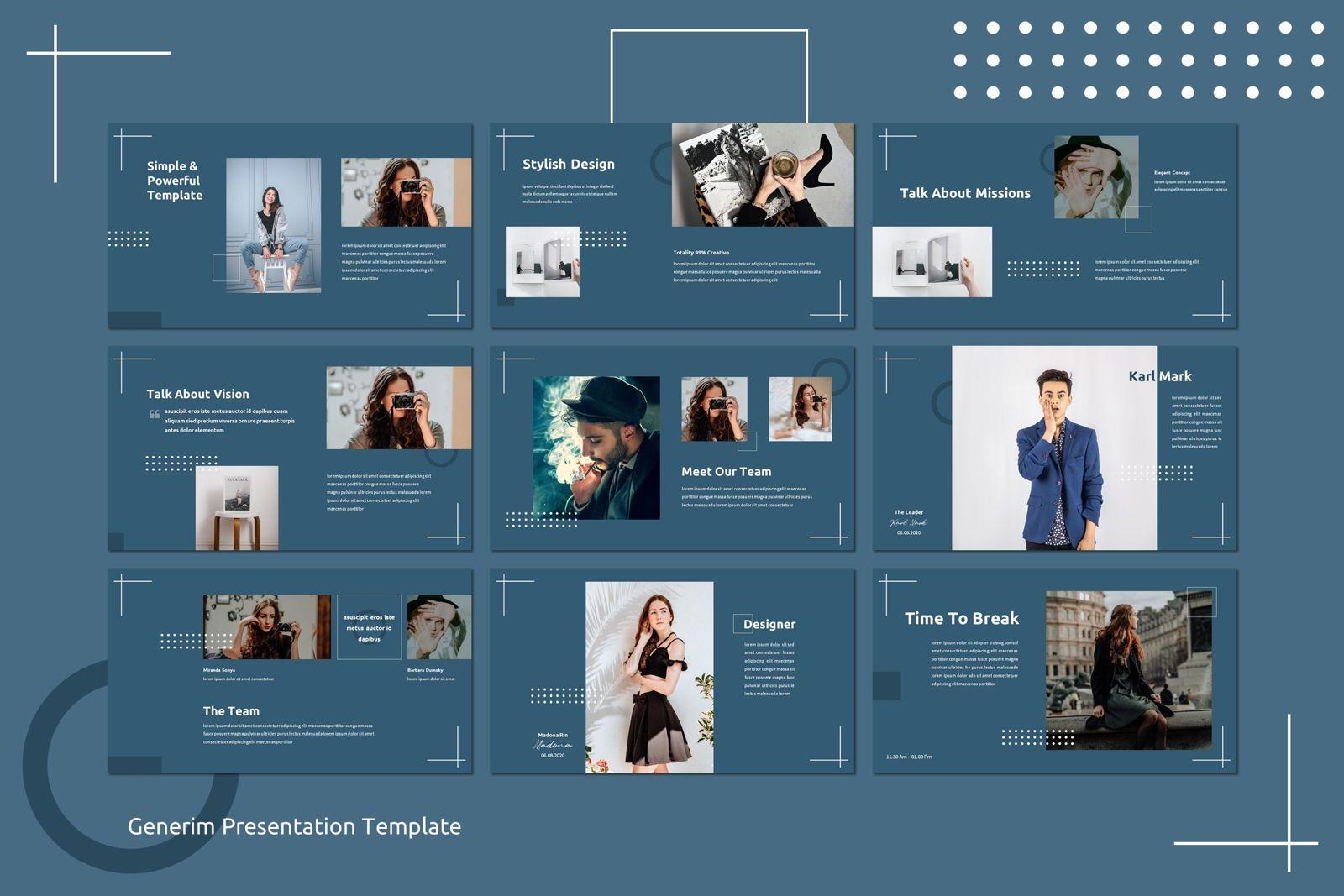 Generim - Powerpoint Template, Slide 3, 07773, Presentation Templates — PoweredTemplate.com