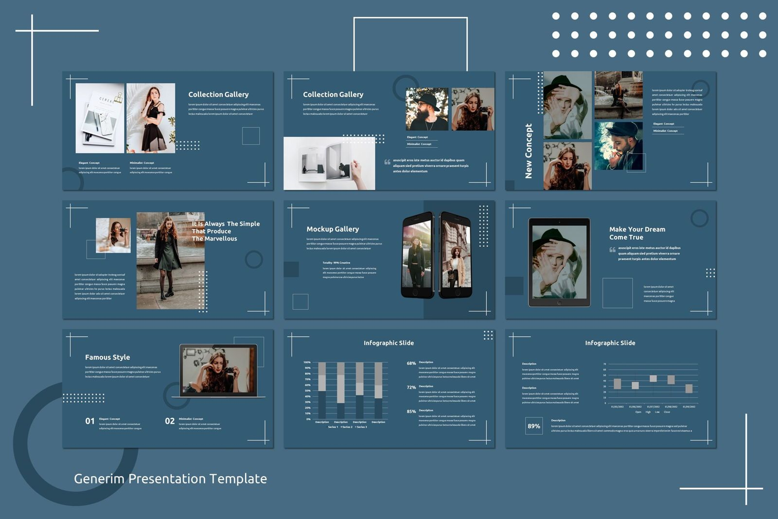 Generim - Powerpoint Template, Slide 4, 07773, Presentation Templates — PoweredTemplate.com
