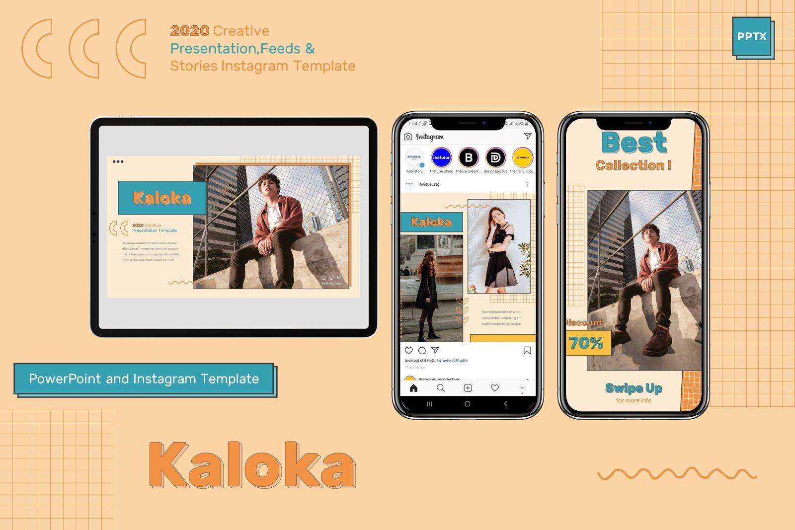 Kaloka - Powerpoint Template, 07778, Presentation Templates — PoweredTemplate.com