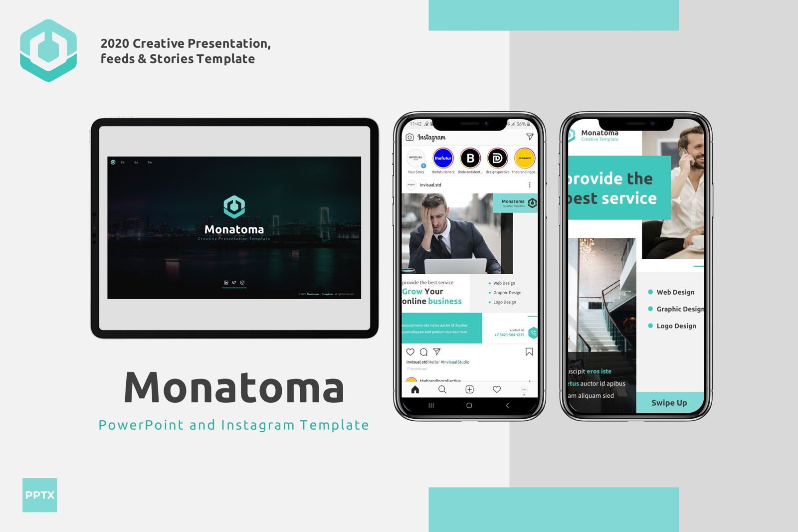 Monatoma - Powerpoint Template, 07779, Presentation Templates — PoweredTemplate.com