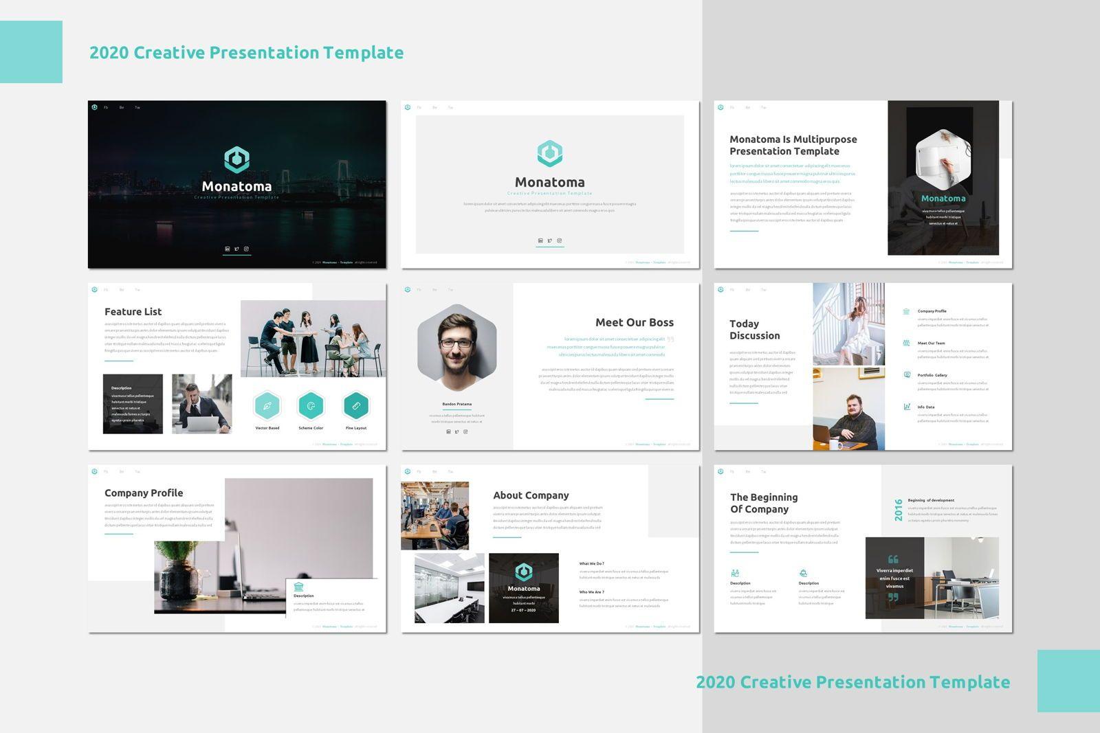 Monatoma - Powerpoint Template, Slide 2, 07779, Presentation Templates — PoweredTemplate.com