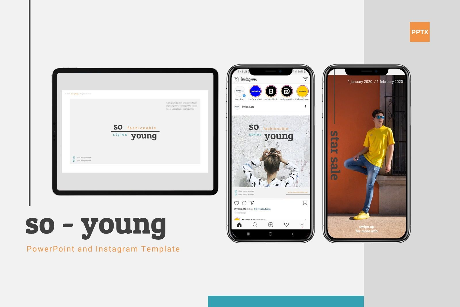 So Young - Powerpoint Template, 07781, Presentation Templates — PoweredTemplate.com