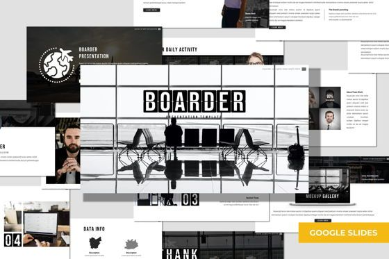 Presentation Templates: Boarder - Google Slides Template #07782