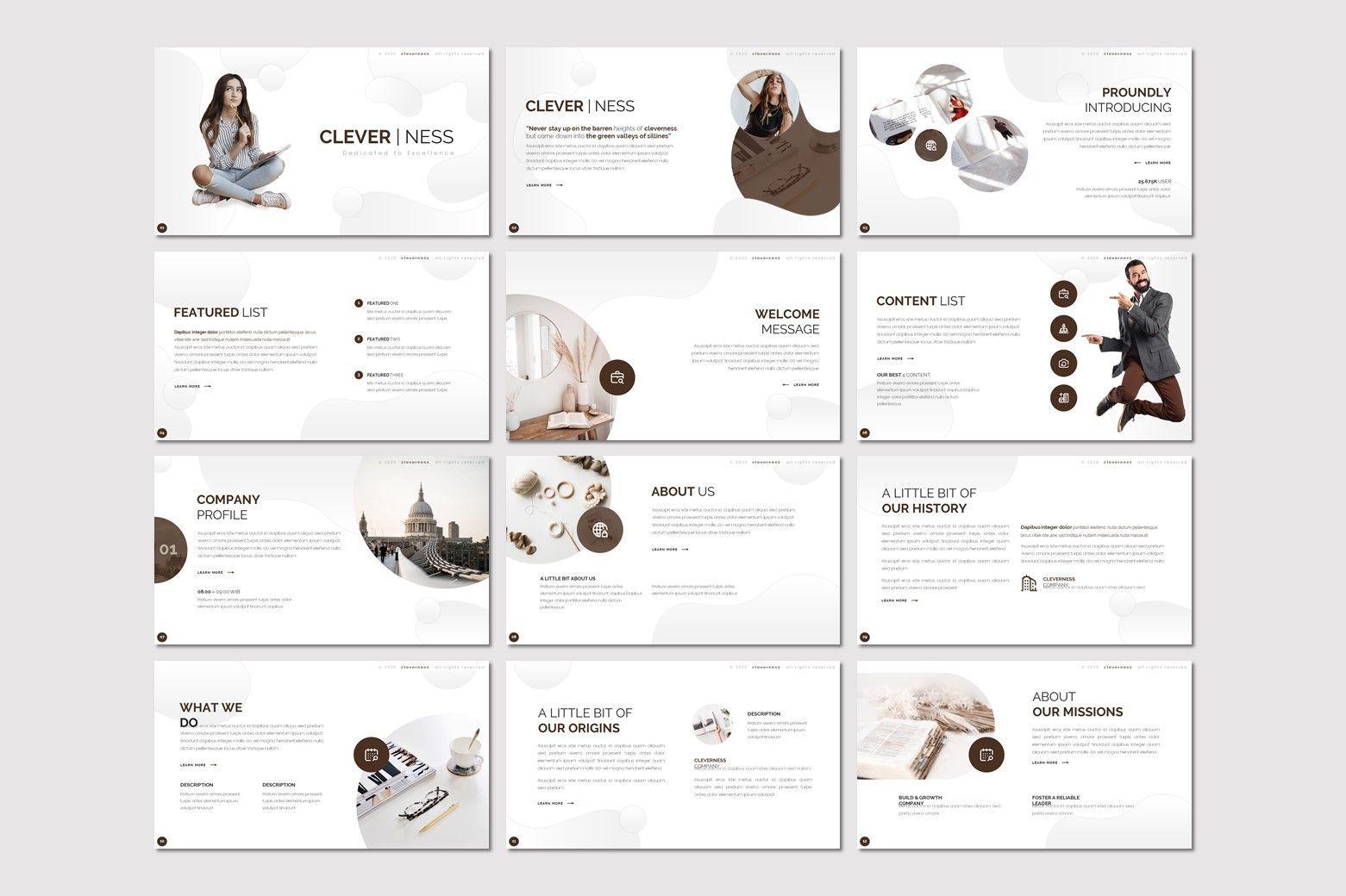 Clevernes - Google Slides Template, Slide 2, 07784, Presentation Templates — PoweredTemplate.com
