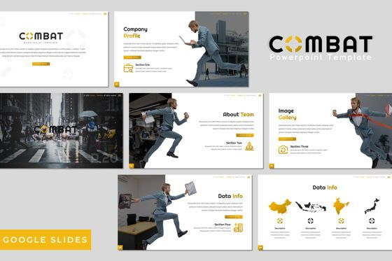 Presentation Templates: Combat - Google Slides Template #07785