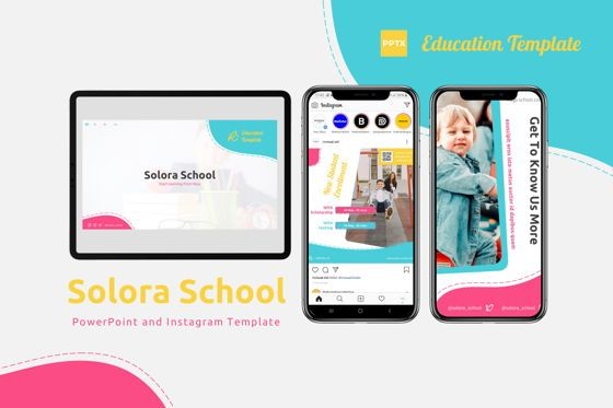 Presentation Templates: Solora School - Powerpoint Template #07789