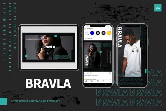 Presentation Templates: Bravla - Google Slides Template #07790