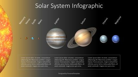 Education Charts and Diagrams: Solar System Infographic #07792