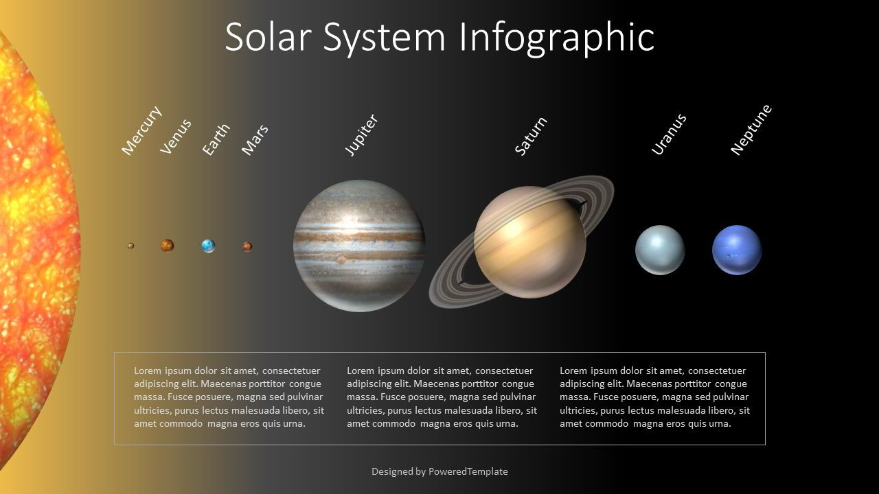 Solar System Infographic, 07792, Education Charts and Diagrams — PoweredTemplate.com