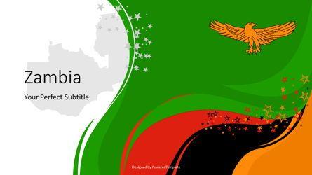 Presentation Templates: Zambia Festive State Flag #07800