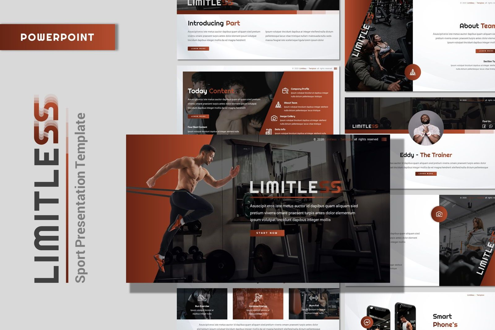 Limitless - Powerpoint Template, 07801, Presentation Templates — PoweredTemplate.com
