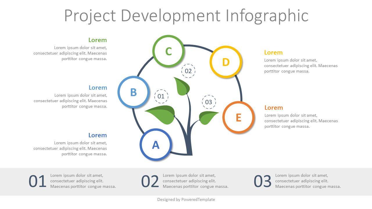 Project Development Concept Inforgraphic, 07803, Infographics — PoweredTemplate.com