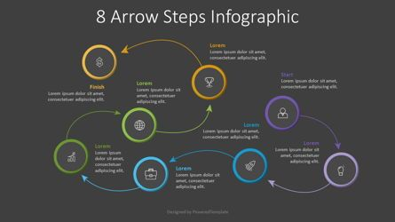 Process Diagrams: 8 Arrow Steps Infographic #07805