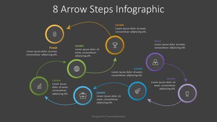 Process Diagrams: 8 Arrow Steps Infographic #07805