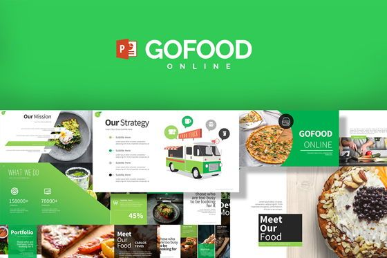 Gofood Keynote Templates, 07806, Business Models — PoweredTemplate.com