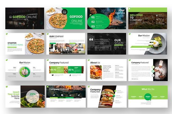 Gofood Keynote Templates, Slide 2, 07806, Business Models — PoweredTemplate.com