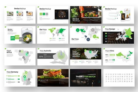 Gofood Keynote Templates, Slide 6, 07806, Business Models — PoweredTemplate.com