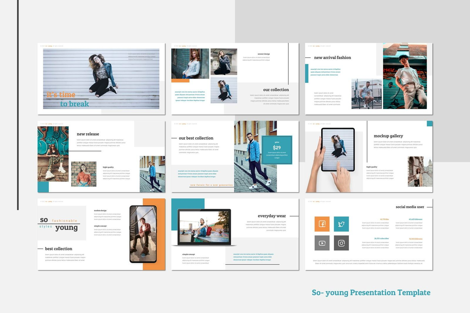 So Young - Keynote Template, Slide 4, 07809, Presentation Templates — PoweredTemplate.com