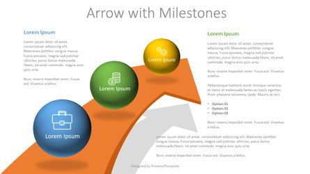 Infographics: Arrow with 3 Milestones #07810