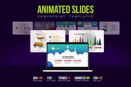 Presentation Templates: Modern Cartoon PowerPoint Template #07811