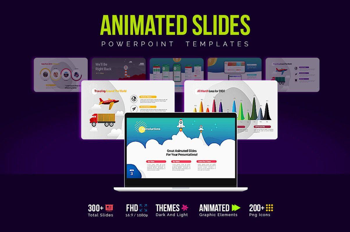 Modern Cartoon PowerPoint Template, 07811, Presentation Templates — PoweredTemplate.com