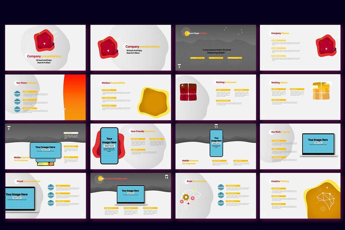 Modern Cartoon PowerPoint Template, Slide 18, 07811, Presentation Templates — PoweredTemplate.com