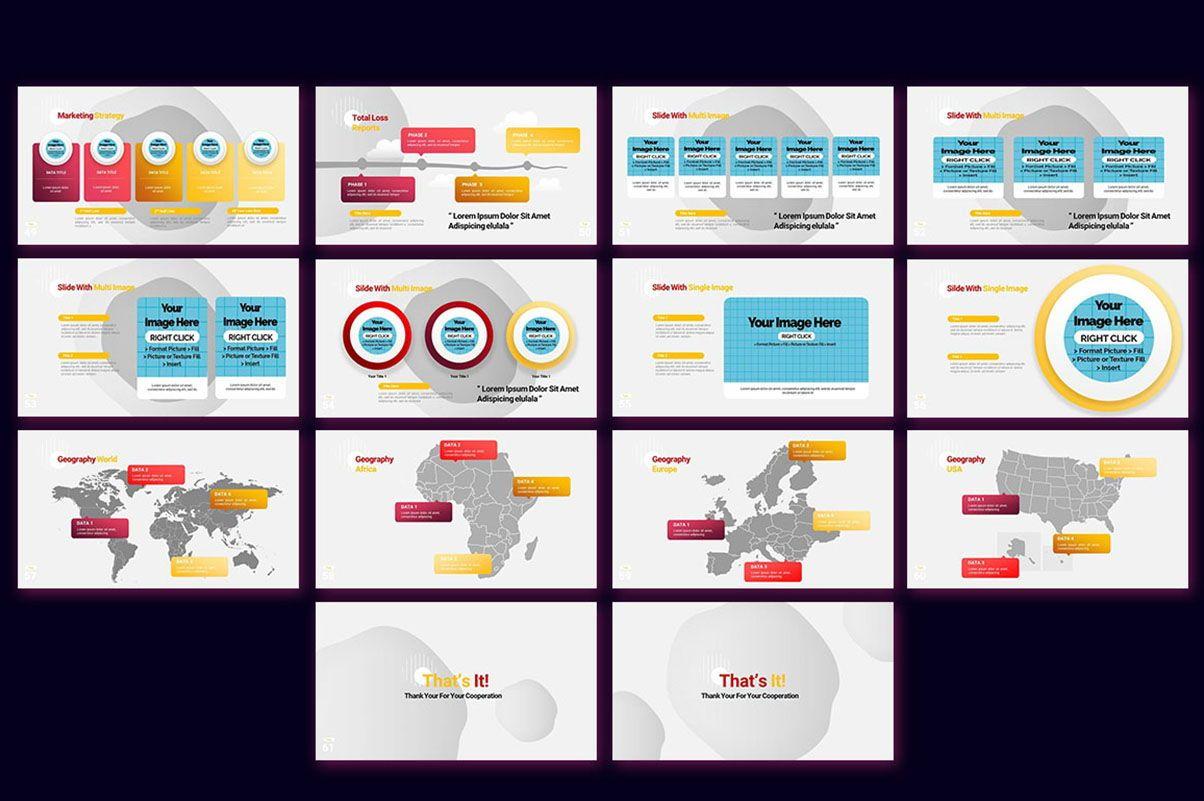 Modern Cartoon PowerPoint Template, Slide 21, 07811, Presentation Templates — PoweredTemplate.com