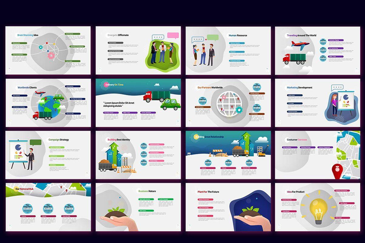 Modern Cartoon PowerPoint Template, Slide 3, 07811, Presentation Templates — PoweredTemplate.com