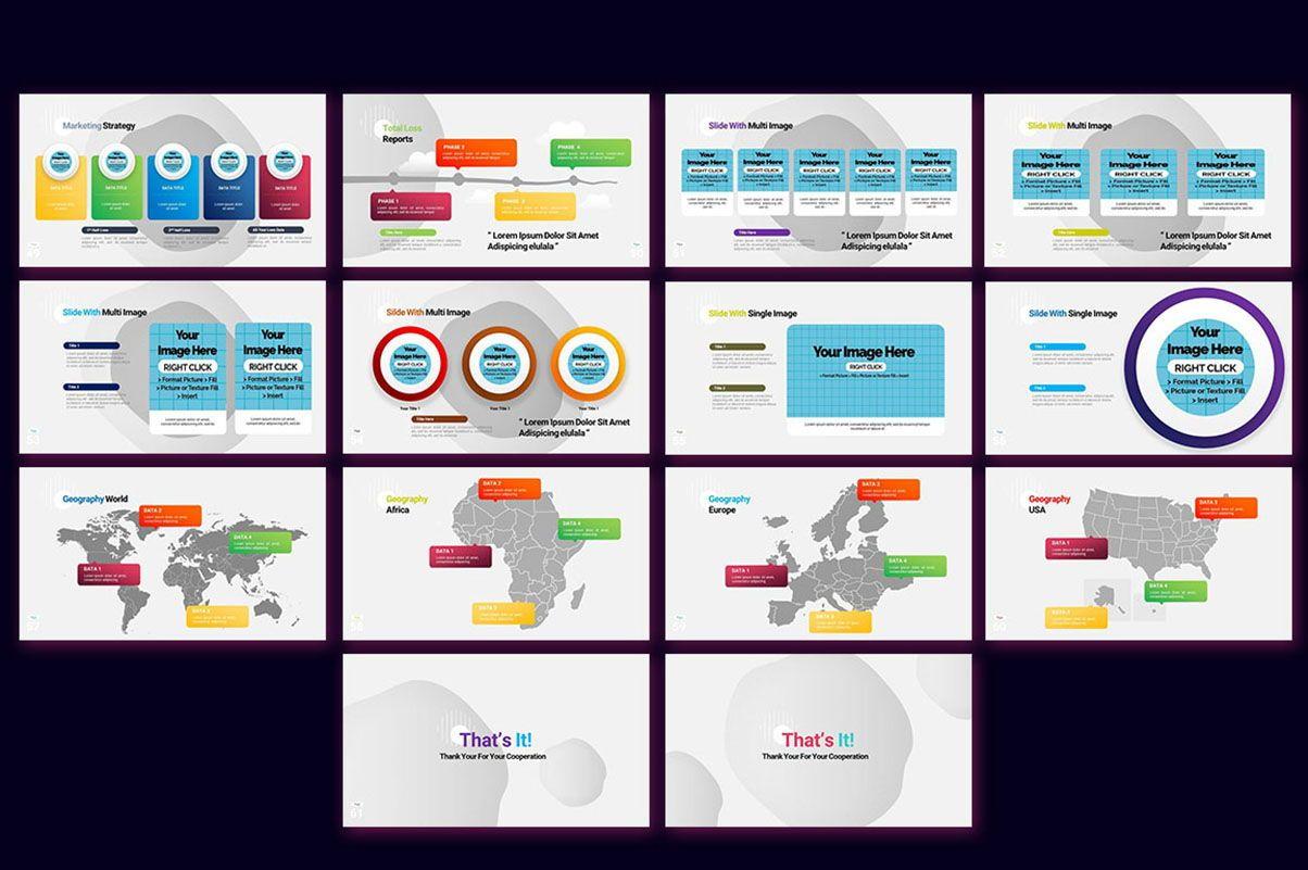 Modern Cartoon PowerPoint Template, Slide 5, 07811, Presentation Templates — PoweredTemplate.com