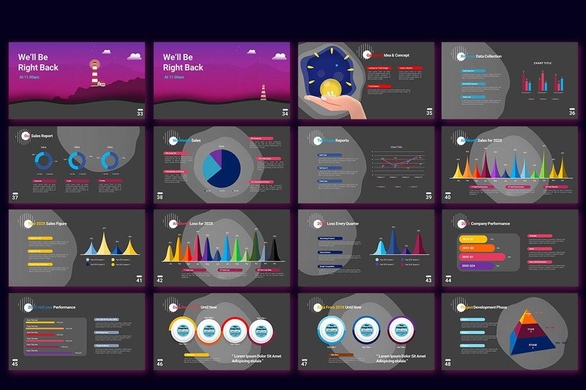 Modern Cartoon PowerPoint Template, Slide 8, 07811, Presentation Templates — PoweredTemplate.com