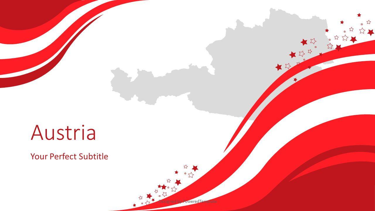 Austria Happy National Day, 07813, Presentation Templates — PoweredTemplate.com