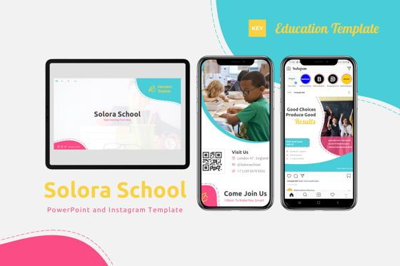 Presentation Templates: Solora School - Keynote Template #07814