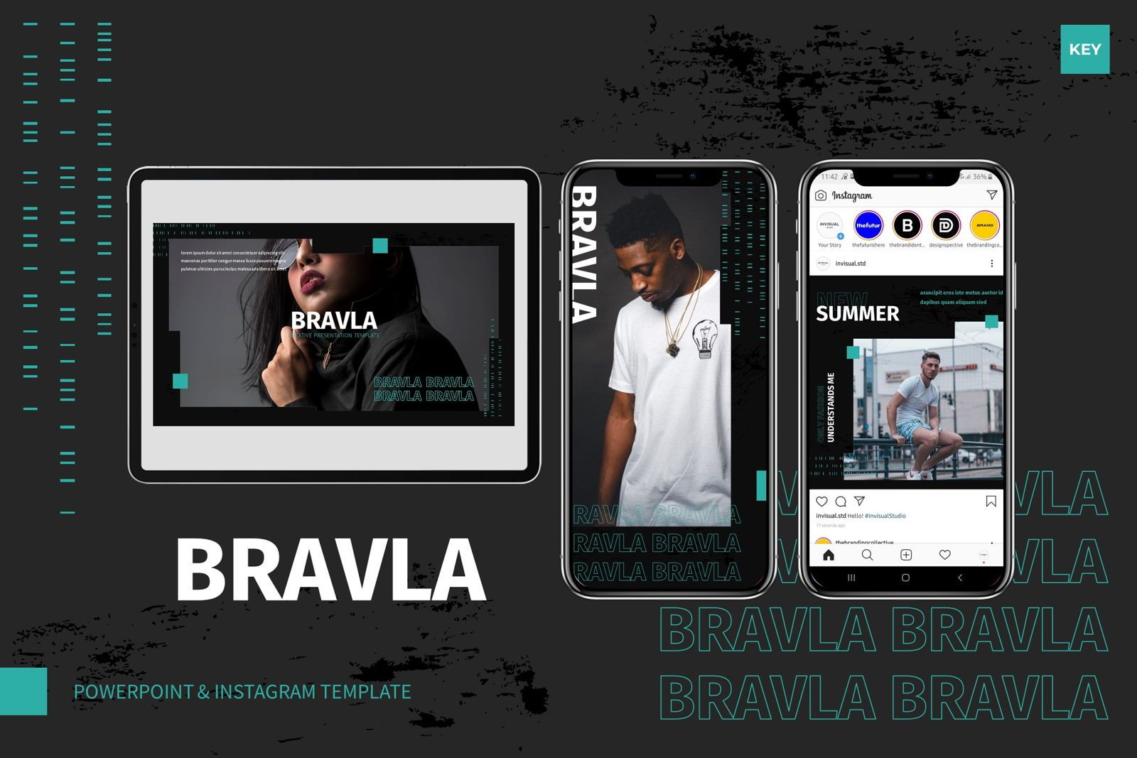 Bravla - Keynote Template, 07815, Presentation Templates — PoweredTemplate.com