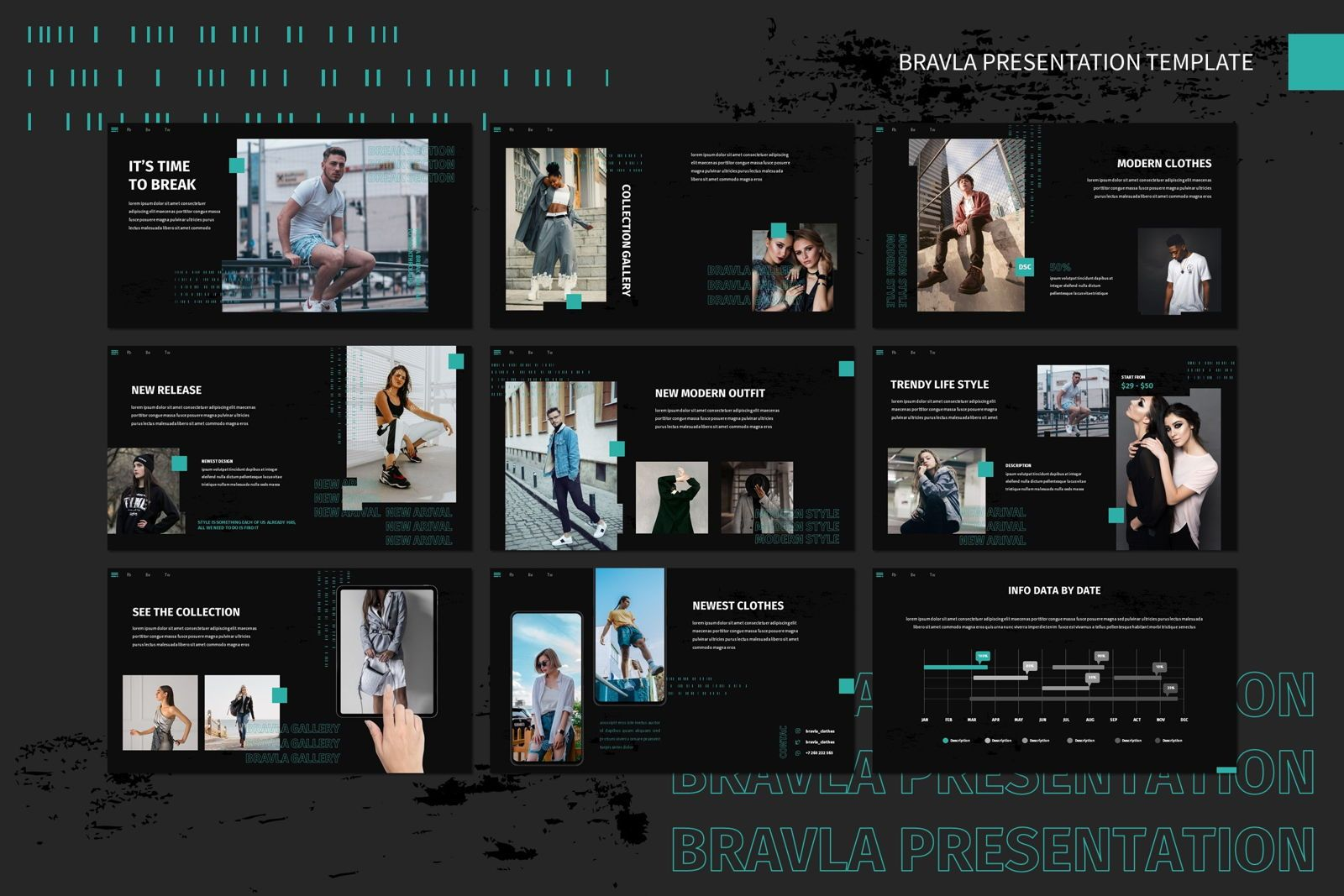 Bravla - Keynote Template, Slide 4, 07815, Presentation Templates — PoweredTemplate.com