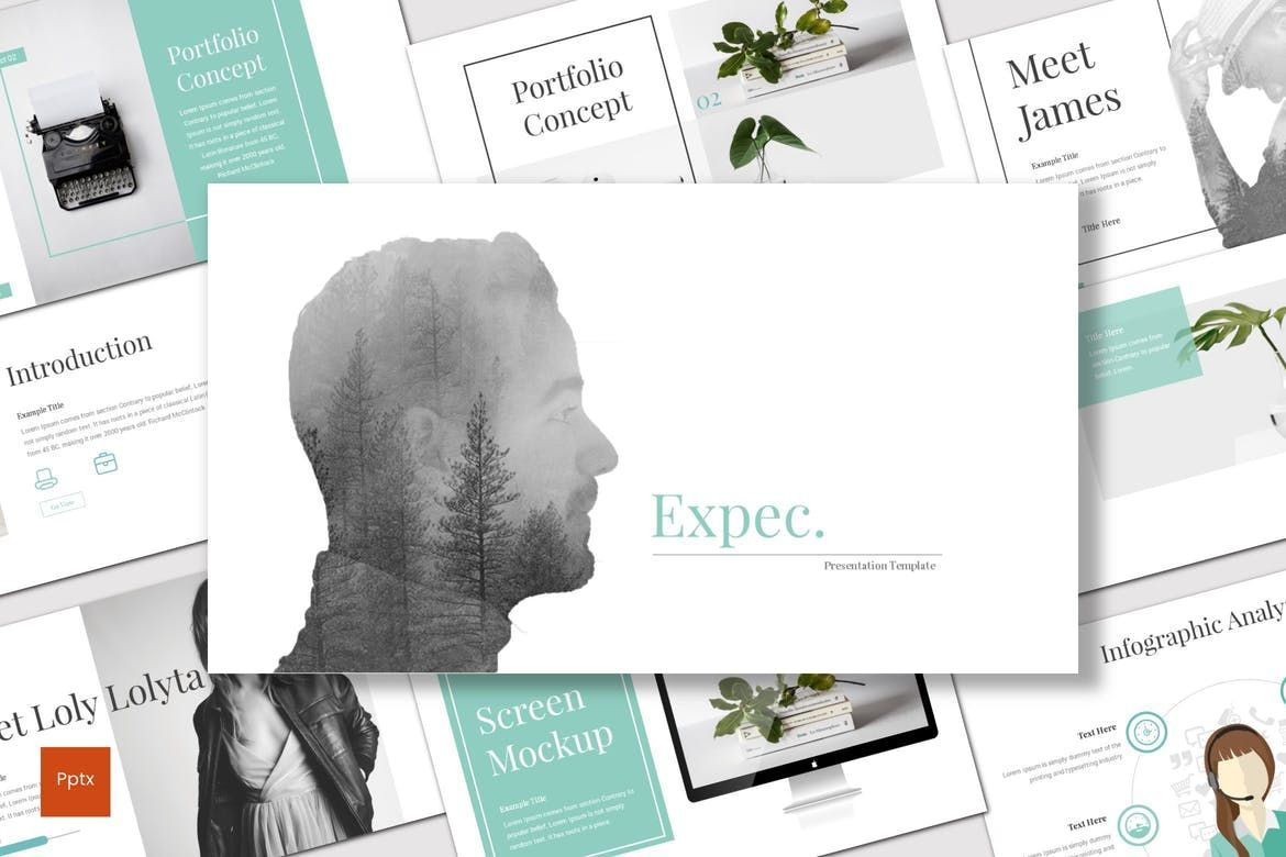 Expec - PowerPoint Template, 07820, Presentation Templates — PoweredTemplate.com