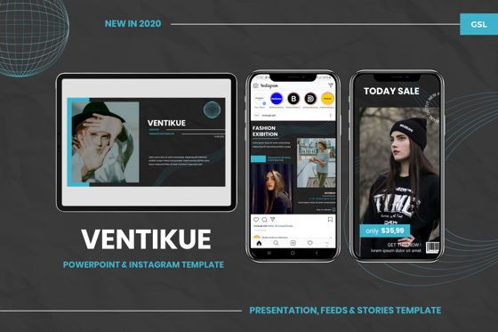 Presentation Templates: Ventikue - Google Slides Template #07821